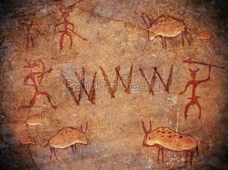 praehistorische world wide web hoehle malen