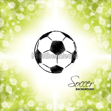 soccer ball on green and white