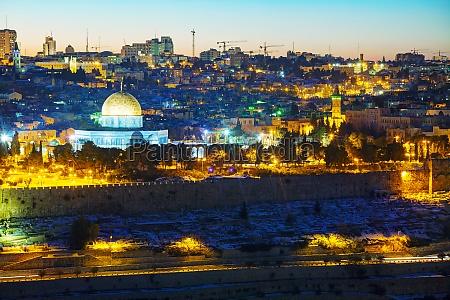 ueberblick ueber die altstadt in jerusalem