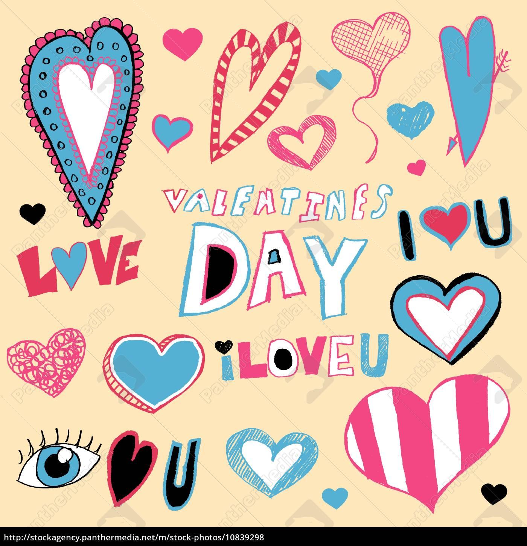 valentinstag, doodles - 10839298