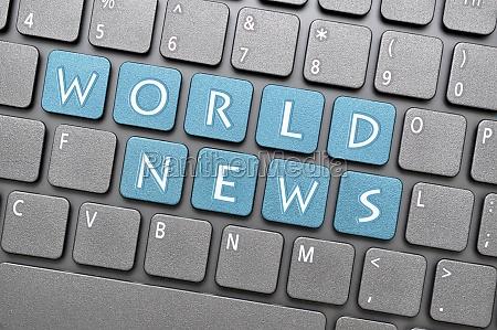 world news on keyboard