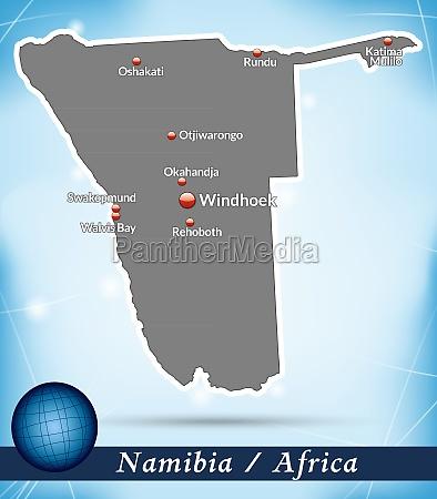 karte von namibia abstrakter hintergrund in