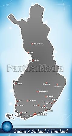 karte von finnland abstrakter hintergrund in