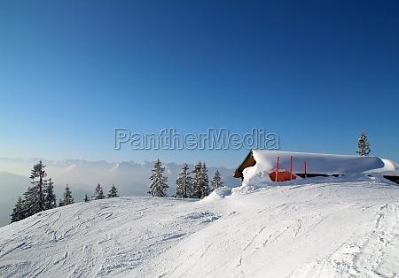 winter bavaria winter landscape snow mountain