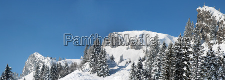 winter bavaria winter landscape snow mountain