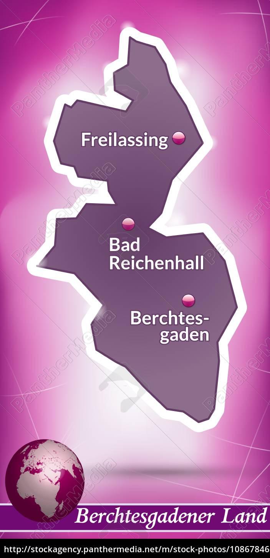 Berchtesgadener Land Karte.Stock Photo 10867846 Karte Von Berchtesgadener Land Abstrakter Hintergrund In