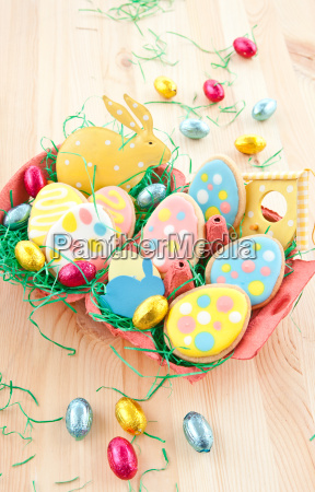 colorful biscuits for easter