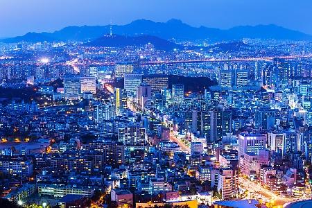 turm bauten stadt metropole nacht nachtzeit