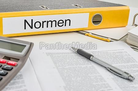 file folders labeled standards