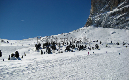 winter dolomites south tyrol snow
