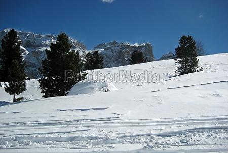 winter dolomites south tyrol snow