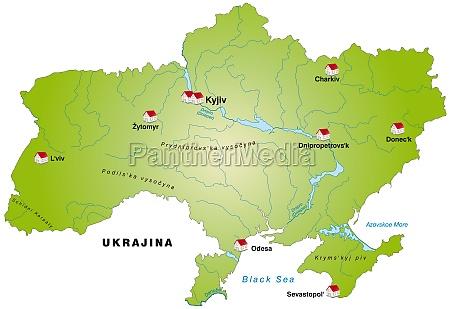 karte von ukraine als infografik in