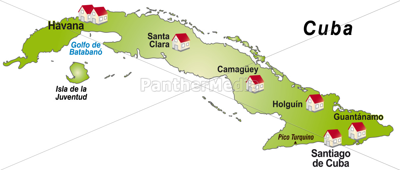 Karte Kuba.Stockfoto 10911498 Karte Von Kuba Als Infografik In Grün
