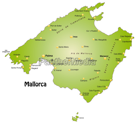 karte von mallorca als UEbersichtskarte in