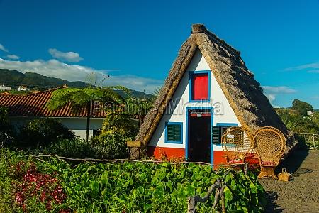 santana typisches strohhaus