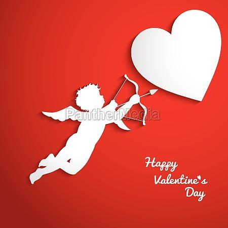 valentinstag hintergrund mit amor