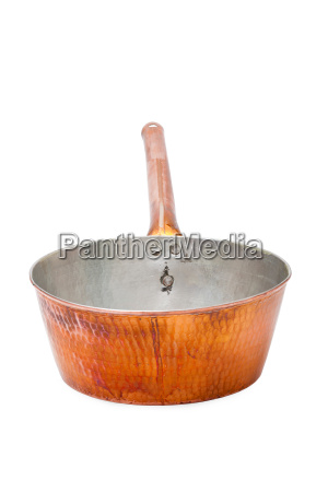 kasserolle kochtopf aus kupfer mit
