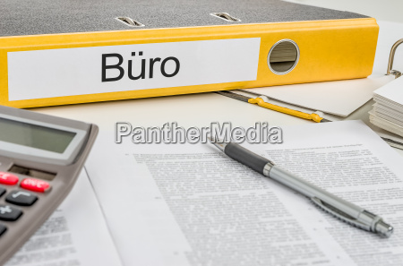 file folder with the lettering office