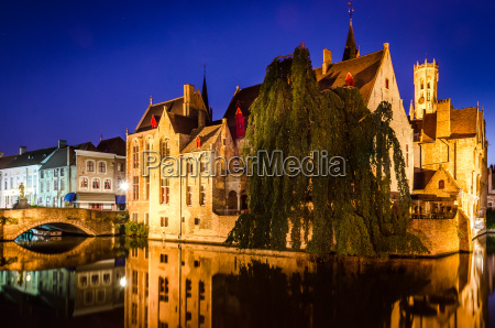 river canal and medieval houses at