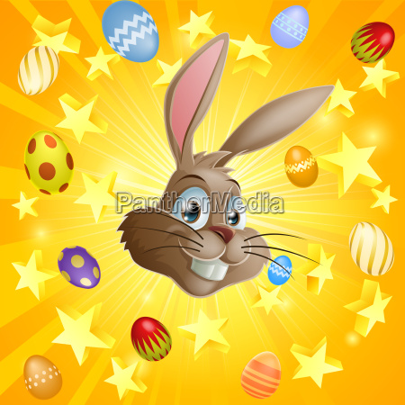 easter rabbit and chocolate eggs