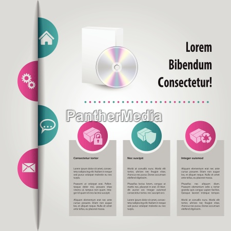 abstract website template design with color