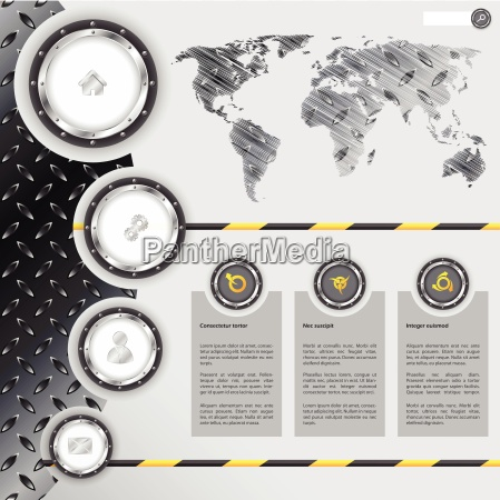 website design with industrial and metallic