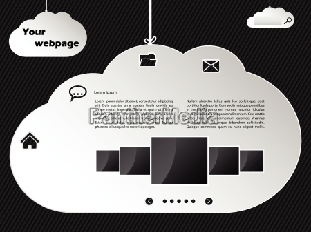 cloud networking inspired website template design
