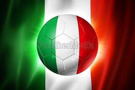 fussball fussball ball mit italien flagge