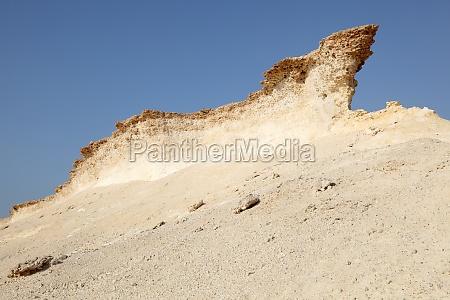 eroded rocks in the desert of
