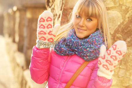 beautiful young woman on a