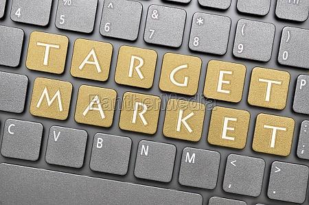 target market on keyboard