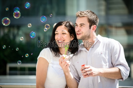 fun with bubble blower