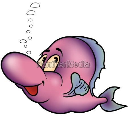 violet cheerful fish