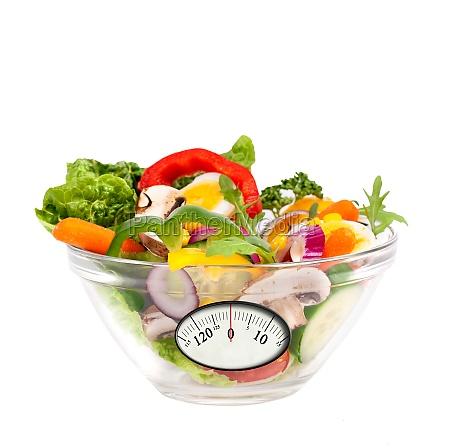 salat mit anzeige waage