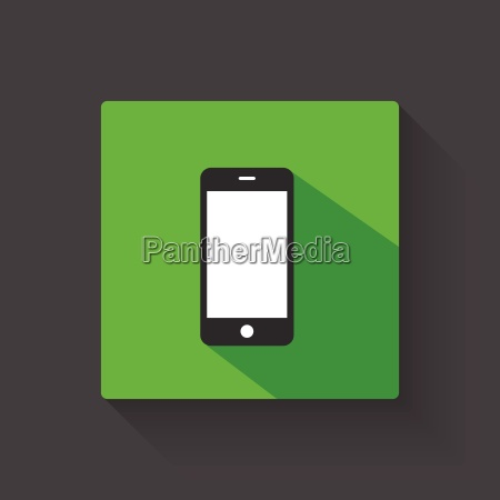 smartphone long shadow illustration