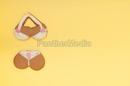 lustige bikini unterwaesche form lebkuchen cookie