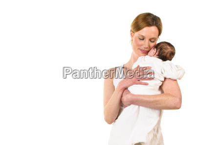 mother with infant on her arm