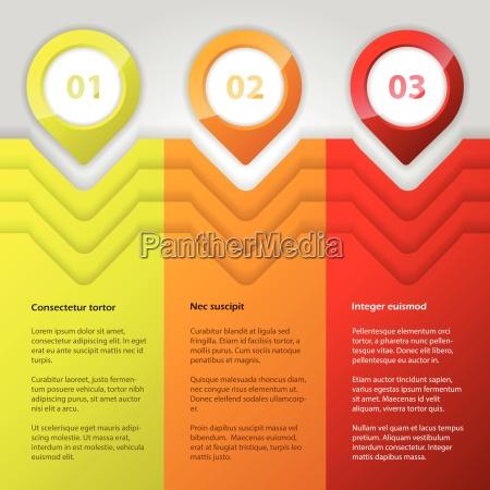 coole infografik design mit hellen farben