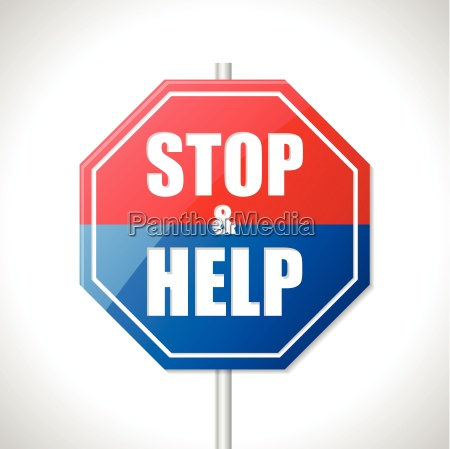 stop and help traffic sign