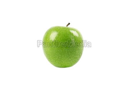 gruener apfel isoliert