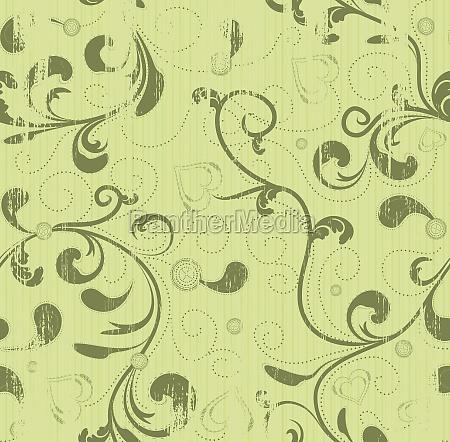 grunge floral seamless wallpaper