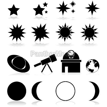 astronomie icons