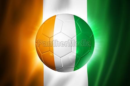 fussball fussball mit elfenbeinkueste flagge