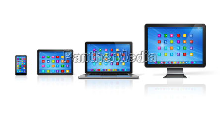 computer geraete set