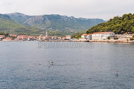 stadt jelsa in kroatien