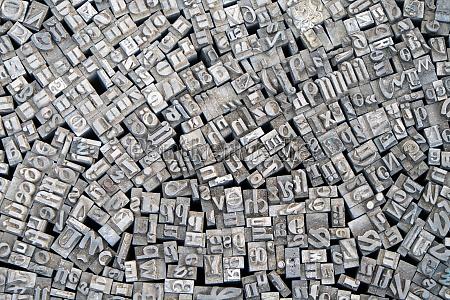 hintergrund aus alten typografie buchstaben