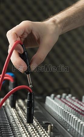anschliessen eines audio buchse
