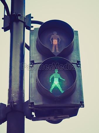 retro look gruenes licht