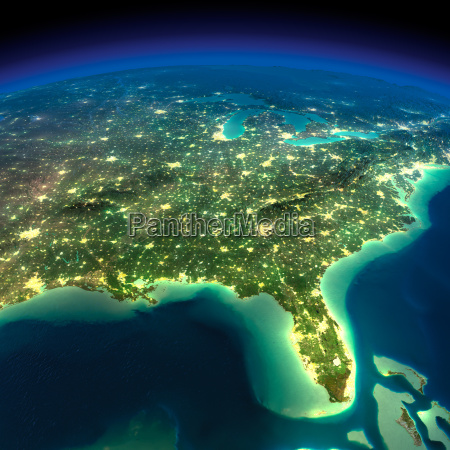 night earth gulf of mexico and