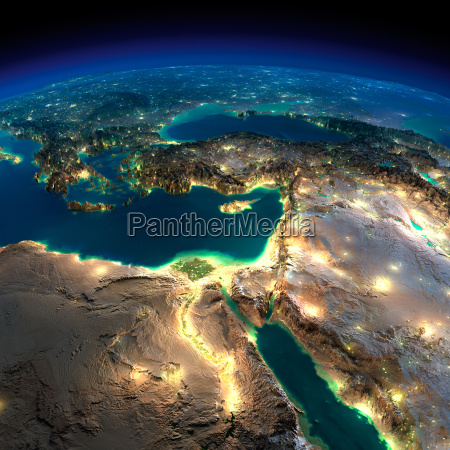 night earth africa and middle east